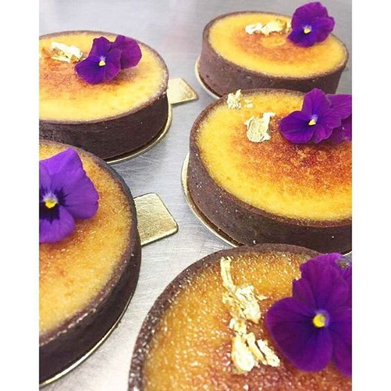 Pabana Brûlée Tarts on special today #passionfruit #banana #tropical #patisserie #French #tart #sydney #larenaissance
