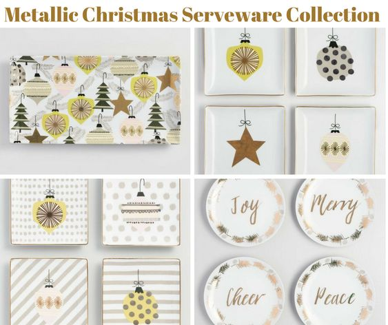 Metallic Christmas Serveware Collection
