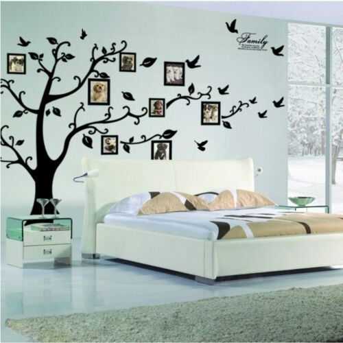 Large Family Tree Wall Sticker Vinyl Art Home Decals Room Decor Mural Branch In 2020 Wall Decor Decals Family Tree Wall Sticker Wall Stickers Home