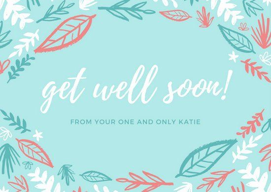 Get Well Card Template Best Of Get Well Soon Card Templates Canva Card Template Get Well Cards Card Templates