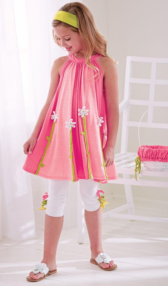 From CWDkids: Daisy Tunic & Mid-Calf Capris: