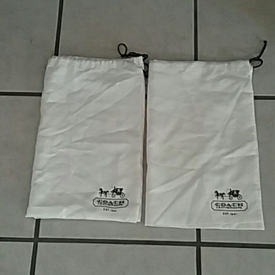 Coach dustbags Two coach handbag dustbags size medium in good used condition. coach Bags Totes