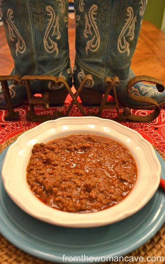 texas chili = no beans.:
