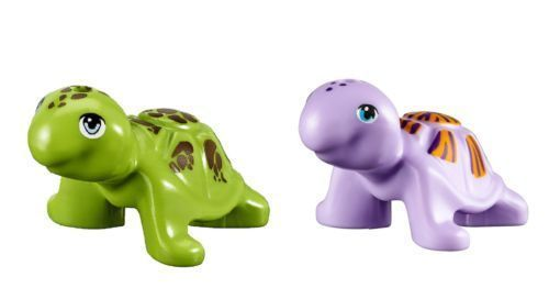 2x Lego Sea animal Turtles Green and purple colour