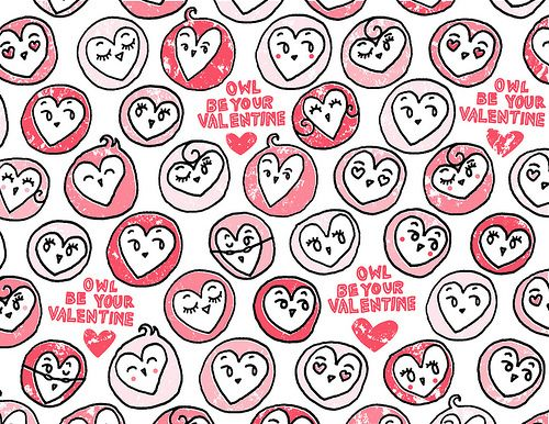 valentines day owl gift wrapping paper or digital paper i you valentine pinterest free printables owl and wrapping papers - Valentines Day Wrapping Paper
