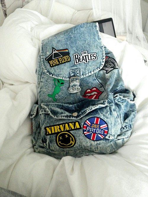 Imagen de grunge, backpack, and band