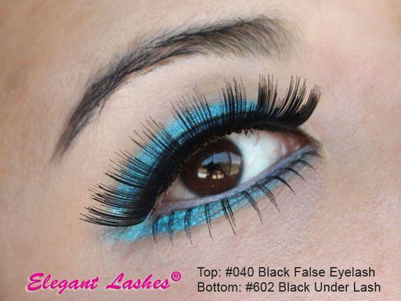 thick long Elegant Lashes #040 Black Human Hair false eyelahes