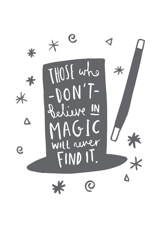 A4 Magic Print Roald Dahl Quote