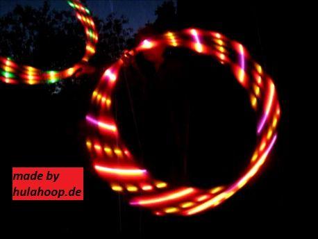 LED Polypro Hula Hoop Reifen FEUER - faltbar! von LED Hula Hoop auf DaWanda.com