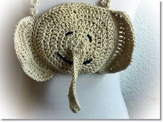 Ulemos ♥Elefantentasche ♥ Brustbeutel♥ von ULeMo`s  Mützen, Hüte, Taschen und mehr auf DaWanda.com