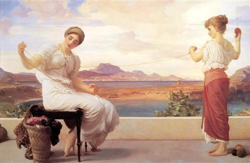 Winding the Skein - Frederic Leighton