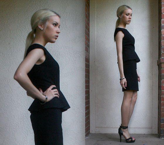 black peplum dress - Gianni Bini