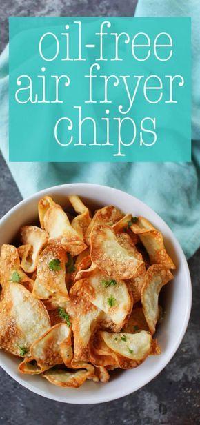 Oil-Free Air Fryer Chips (Garlic Parm Flavor)