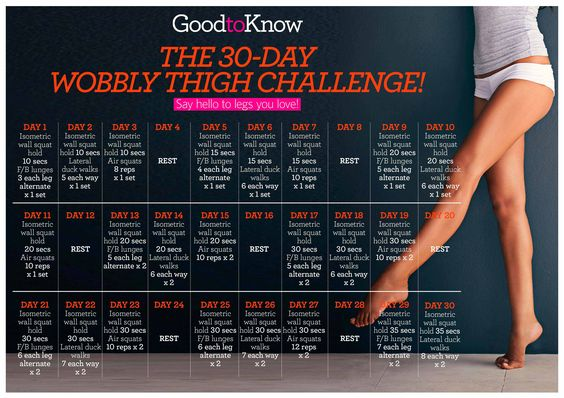 Firm up your thighs in a month with exercises you can do at home! #30daychallenge