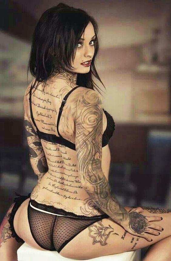 Beautiful black raven with a novel on her back. #backtattoos #tattoogirls #inked #inkarmor #tat2x #blackhair www.Tat2X.com