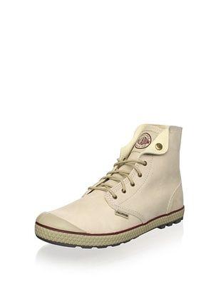 61% OFF Palladium Men's Slim Snaps Leather Lace-Up (Bamboo/Granata)