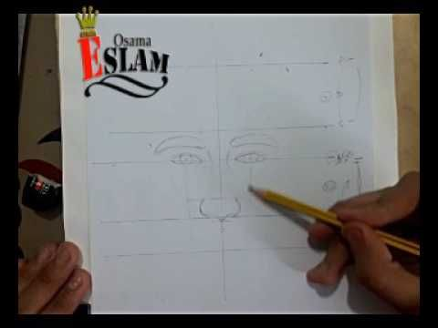 تعليم رسم البورتريه نسب ومقاييس درس النسب و طريقه ظبط نسب رسم البورتريه Youtube Drawings Art Math