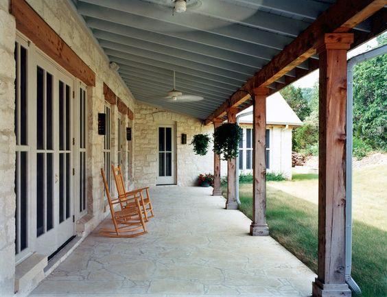 texas limestone front porch house m w ideas pinterest