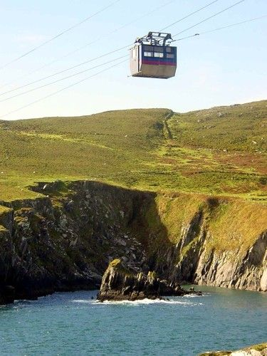 Ireland's only cable car, which crosses the heaving tides of the Dursey Sound to a fabulously secluded island free of shops, pubs or restaurants.