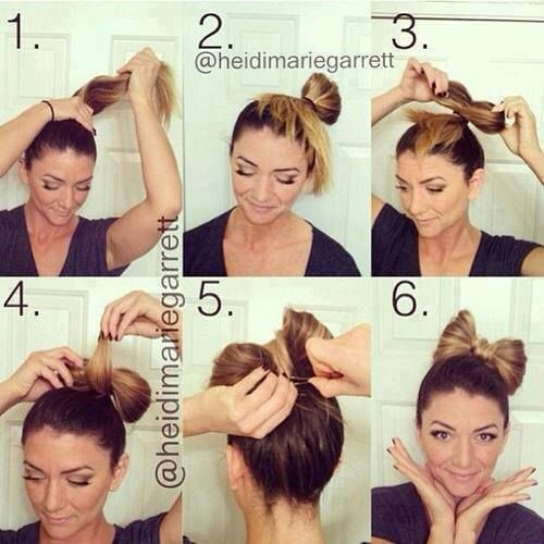 Sorry, now I'm posting all these bow hairs...but...I mean....how CUTE!!! I wanna do this tomo!!!