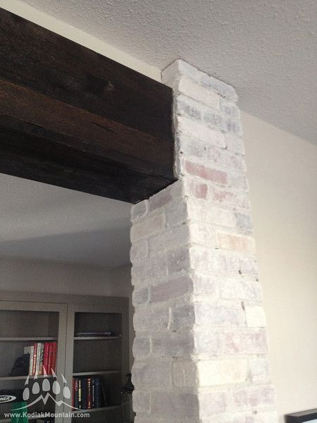 This Cherokee Brick was installed as a thin brick veneer in a show home of Van Arbour Homes in Lethbridge. It's a modular tumbled brick and after installation was painted. Installation by RR Masonry, brick supplied by Kodiak Mountain Stone www.KodiakMountain.com