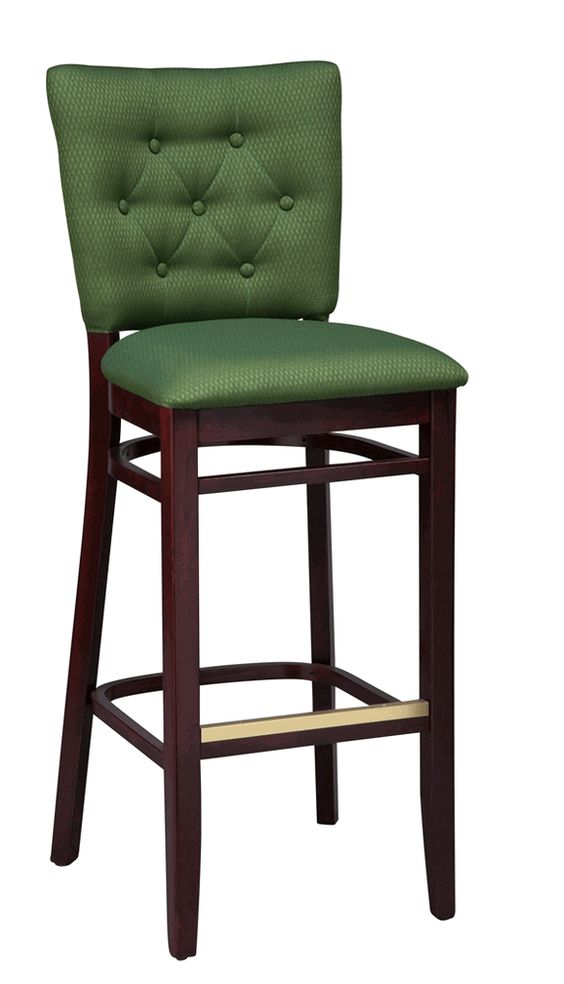 Counter Height Chairs With Backs : ... upholstered tufted bar counter height bar stools wood bar stools bar