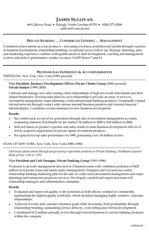 Business Architect Resume Example + Free Resume (resumecompanion - banking executive sample resume