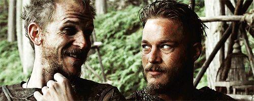 Floki and Ragnar, Vikings.