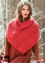 Into The Woods scarlet capelet Early Fall 2011 Fashion Preview Vogue Knitting #knitting