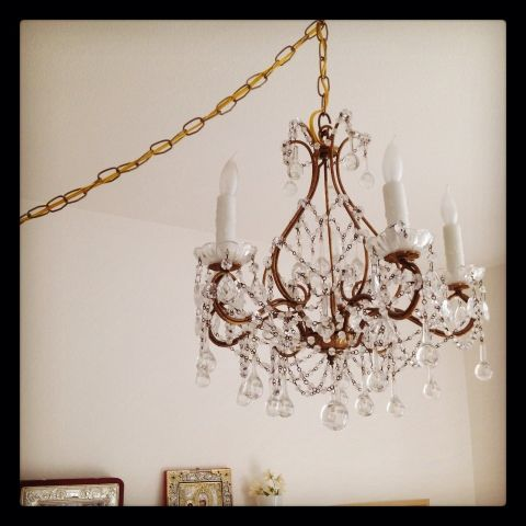 Rachel Ashwell chandelier Just a Girl and her Little Dog