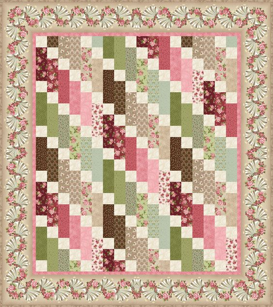 Free Quilt Patterns From Pinterest : Graceful Moments - Graceful Cascade Free Quilt Pattern