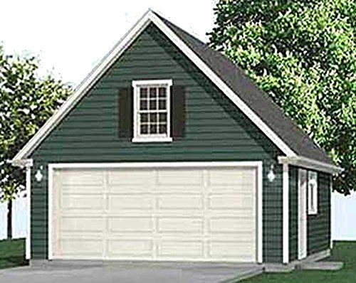 Get Garage Plans 2 Car Compact Steep Roof Garage Plan With