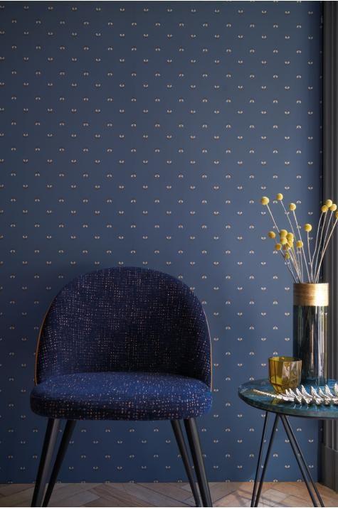 Bleu marine et or Hexagone amovible Papier Peint//Géométrique Papier Peint//Autocollante