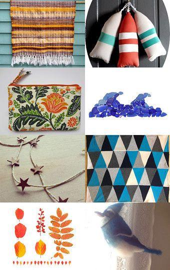 Blues and Orange of September by Rachel Bingham Kessler on Etsy #MaineTeam #SeptemberFinds #GiftIdeas