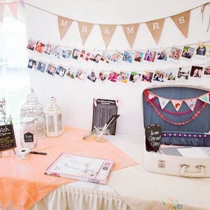 Getting married soon? Use your favourite photos to decorate the card & guest book table. Simple, but effective! (📸: Hayley B)  #weddinginspiration #weddingdecor #guestbook #weddingwire #wedding #DIY #theknot