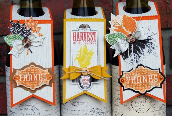 Thanksgiving Wine Tags by Becrafty Stamps