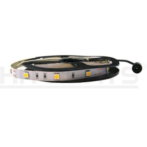 HitLights Premium UL-Listed LED Light Strip - Cool White 5000K SMD 5050 - 150 LEDs, 16.4 Ft Roll - 12V DC - 123 Lumens / 2 Watts per Foot - Indoor IP-30 - Adhesive Backed for Easy Installation - LED Tape Light -- Awesome products selected by Anna Churchill