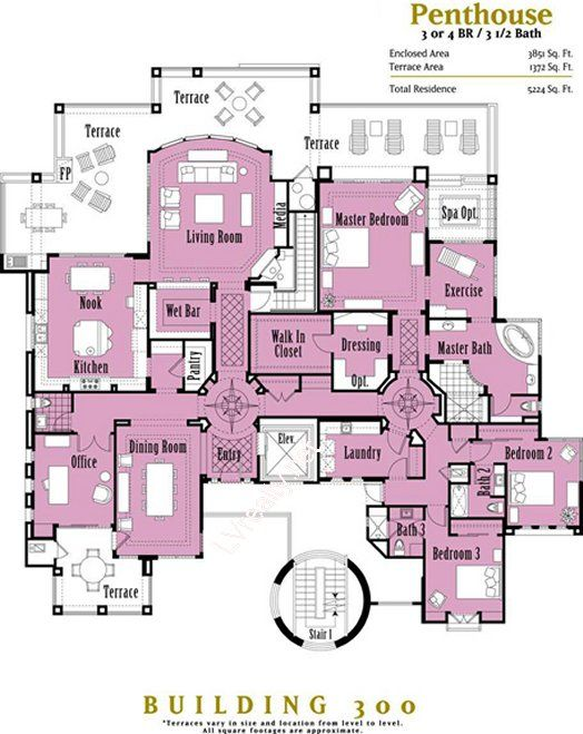 Penthouses in chicago floor plans penthouse floor plans for the gramercy park hotel floor - Lay outs penthouse ...
