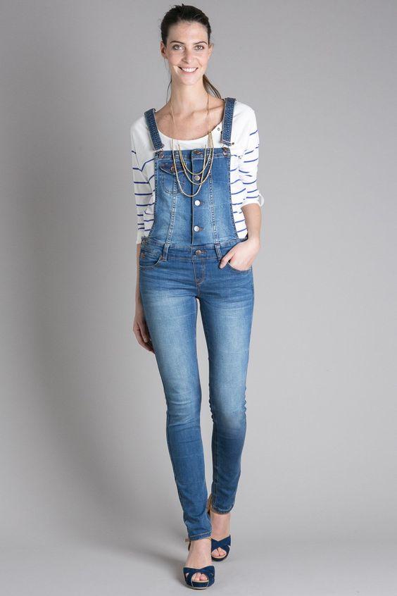 salopette jean femme paris katia dress to impress pinterest paris e commerce and jeans. Black Bedroom Furniture Sets. Home Design Ideas