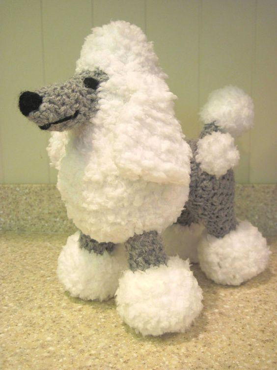 Free Amigurumi Poodle Pattern : Crocheted poodle stuffed animal pattern digital download