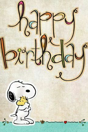 Snoopy happy birthday: