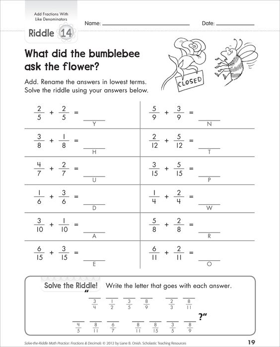 least common denominator worksheet pdf