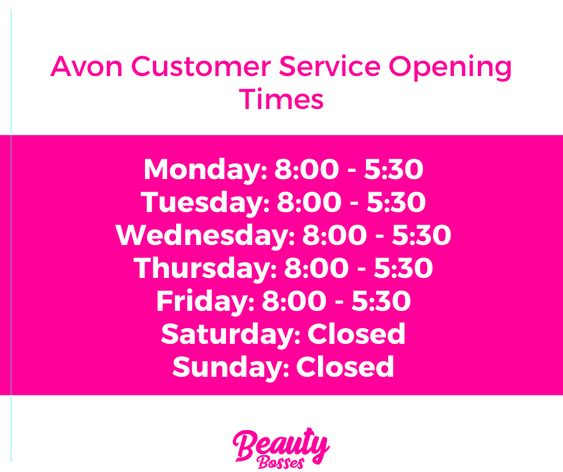 Avon Customer Service Opening Times