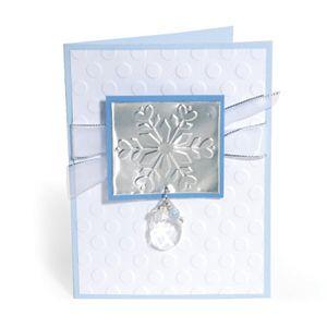 Embossed Snowballs & Snowflakes Card