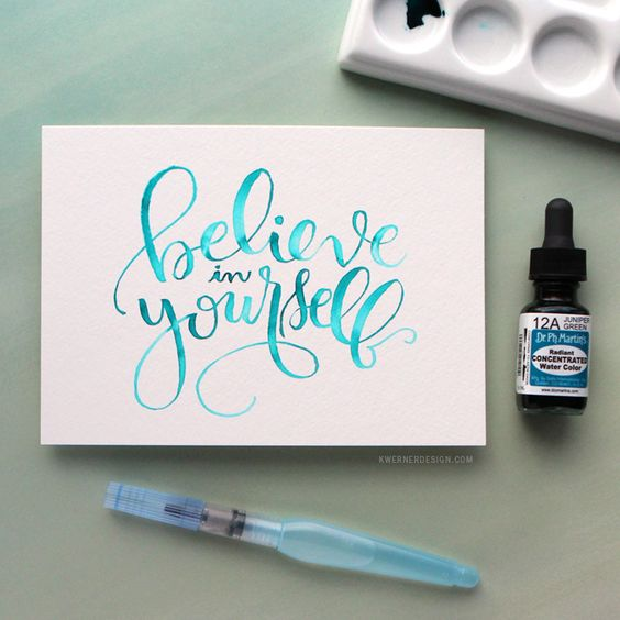 Watercolor brush lettering using a light pad pinterest