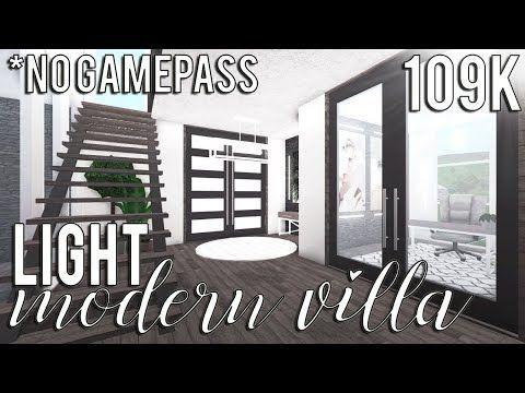 Roblox Bloxburg Light Modern Villa No Advanced Placement 109k