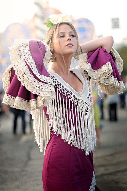Seville Fashion: Spanish Girl At The April Fair Of Seville