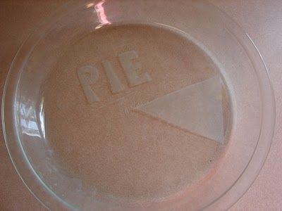 Etching pyrex dishes