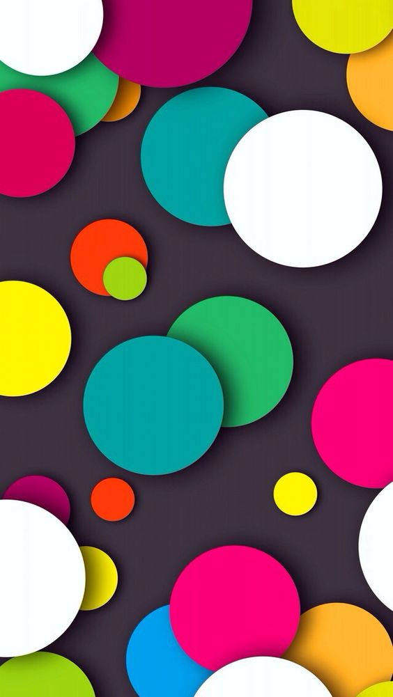 Dots wallpaper Papel de parede de bolinhas coloridas #Wallpaper #Background…: