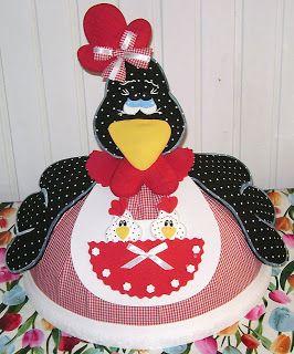 Celeiro Artesanato: Cobre bolo em EVA e tecido com molde pap.